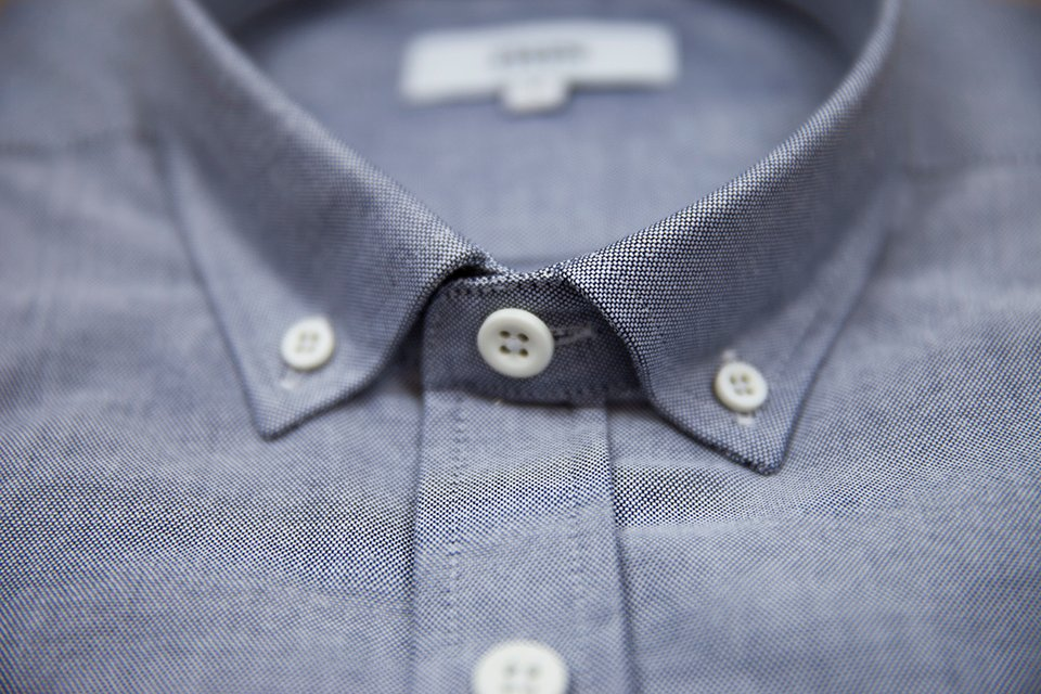 Chemise Oxford Grise Cols