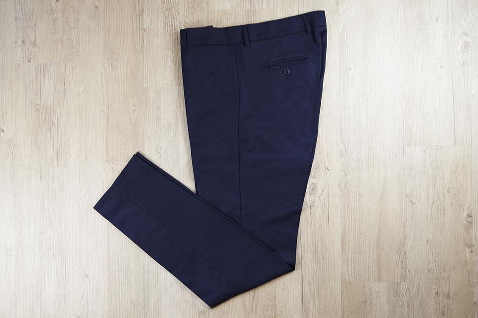 Pantalon Relax Navy Laine Applat Deplie