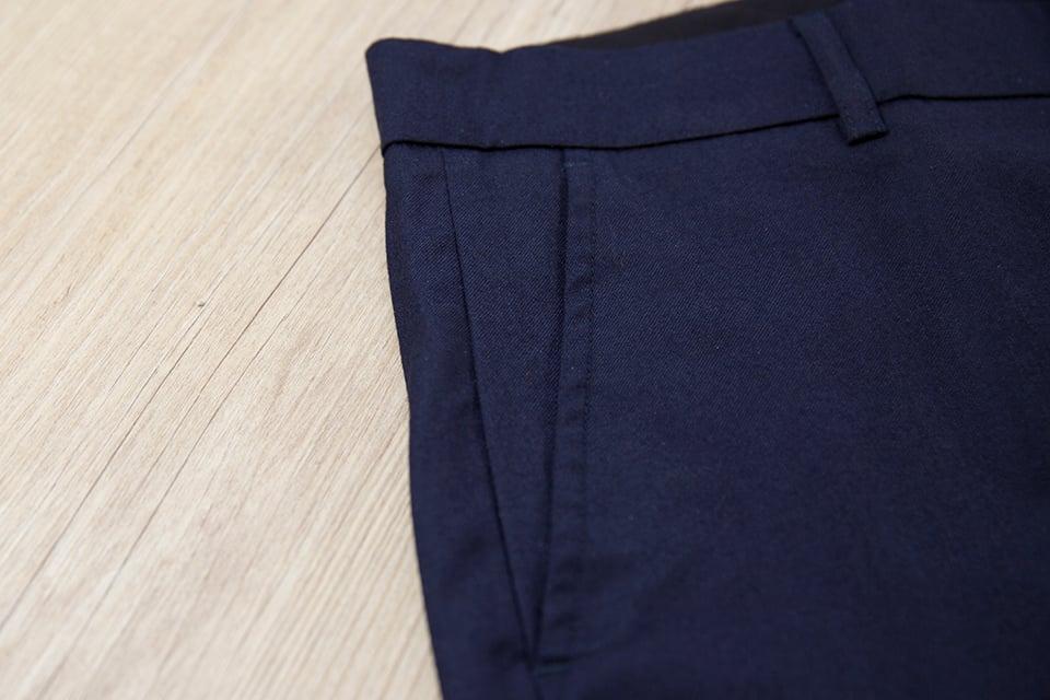 Pantalon Relax Navy Laine Passants