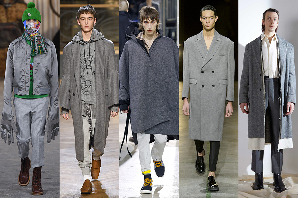 tendance couleur gris paris fashion week