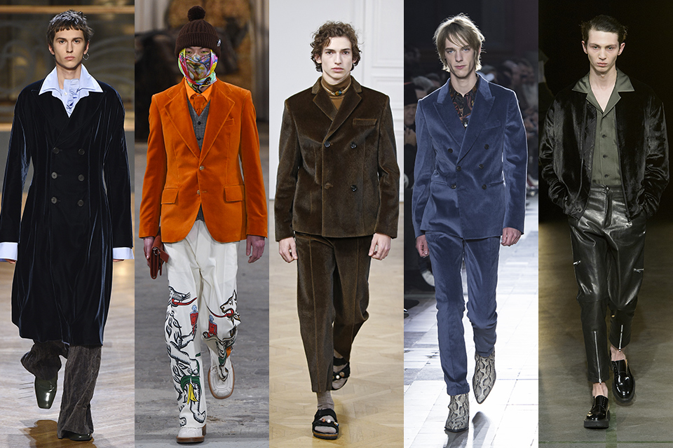 tendance velours paris fashion week