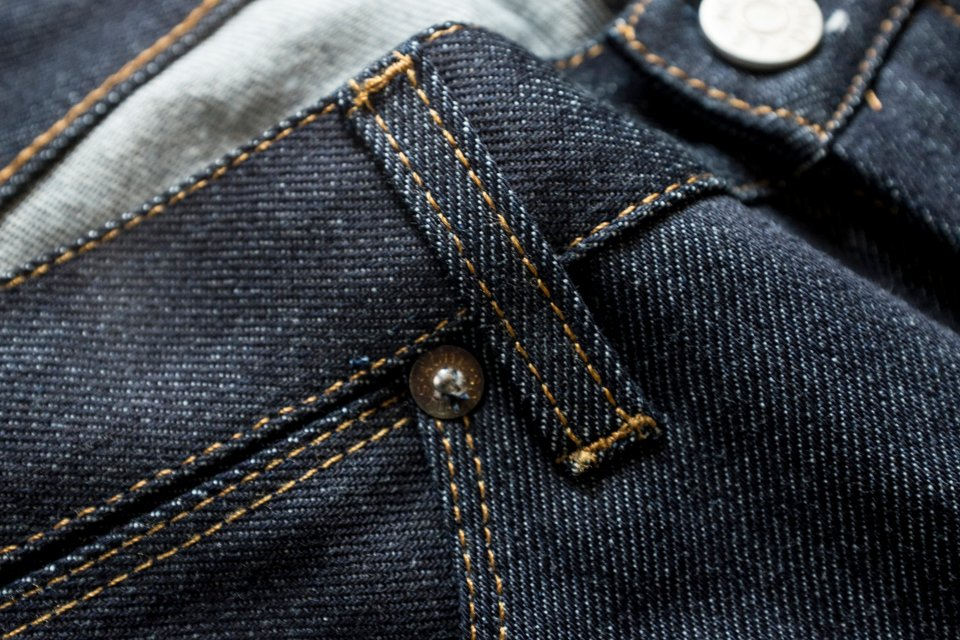 Passants jeans acne max raw