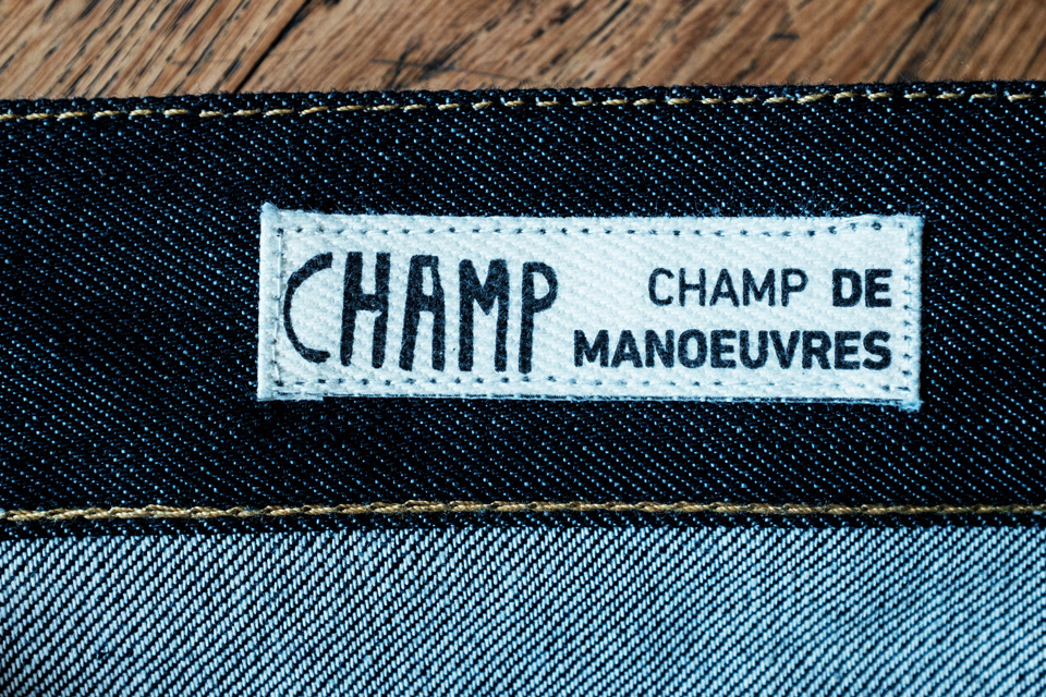 champ de manoeuvres marque jeans france