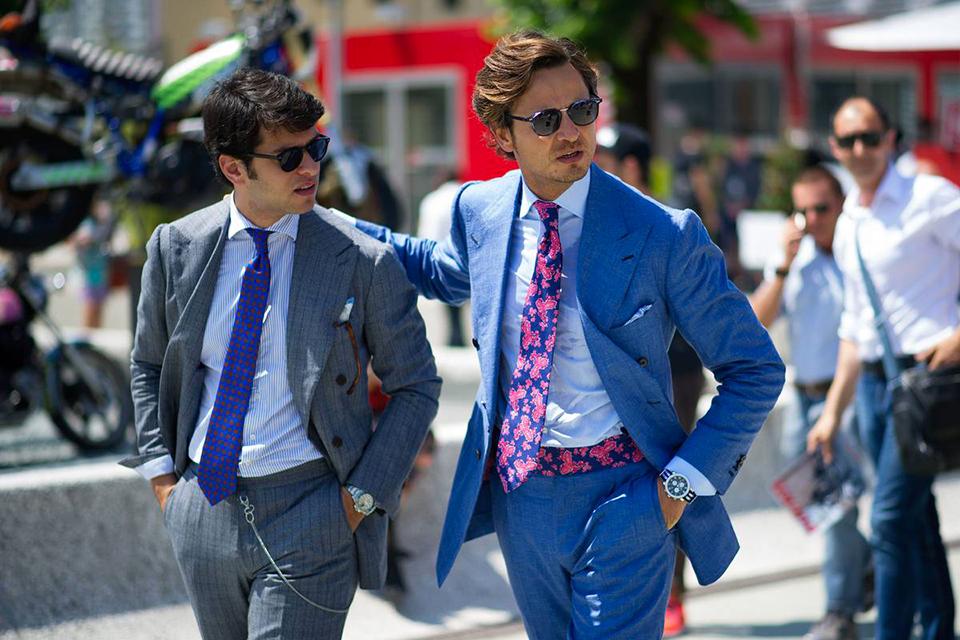 Costumes Pitti Uomo Cravates