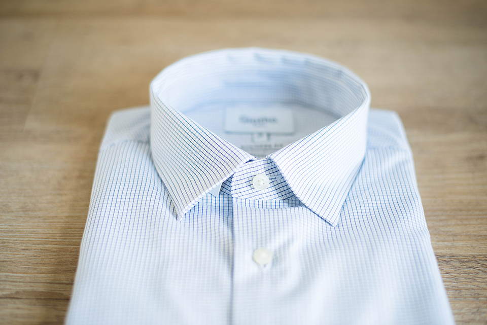 Giotho Chemise Carreaux Bouton Col