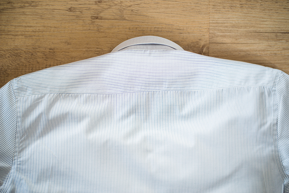 Giotho Chemise Carreaux Couture Dos