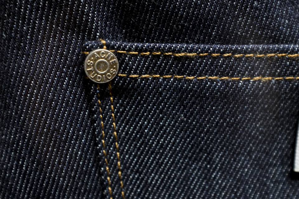 jeans acne max raw rivet plat