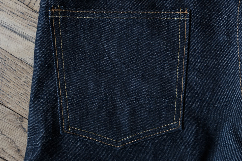 poche arriere jeans brut