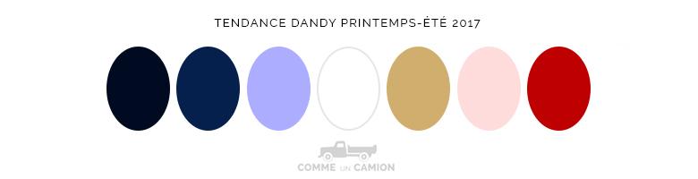 tendance dandy ss17 couleurs
