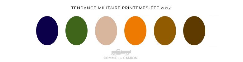 tendance militaire ss17 couleurs
