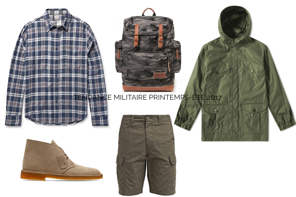 tendance militaire ss17 homme