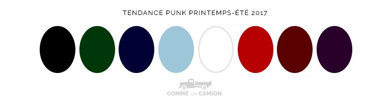 tendance punk ss17 couleurs