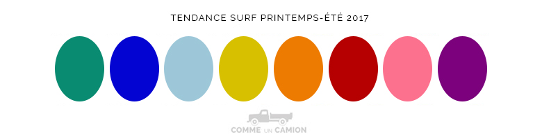 tendance surf printemps ete 2017 couleurs