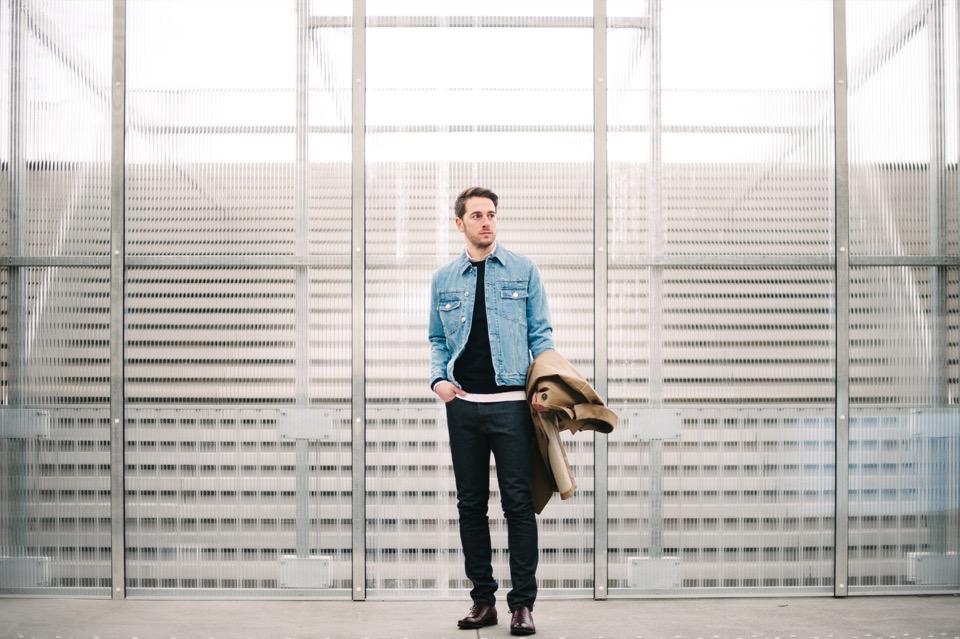 Superposition Forum des Halles Escaliers vitres complet jeans