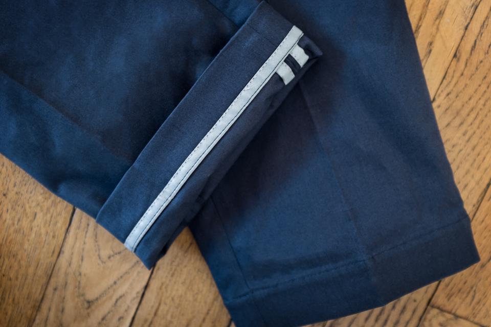 bandes reflechissantes ourlet pantalon