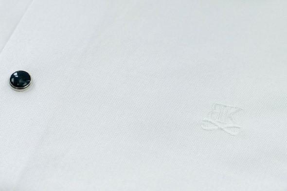 Benklark Chemise Blanche Logo Poitrine