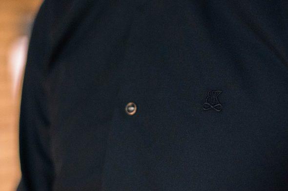 Benklark Chemise Noire Portee Logo Poitrine