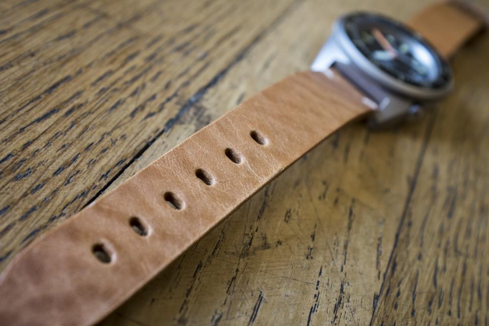 bracelet cuir montre squale