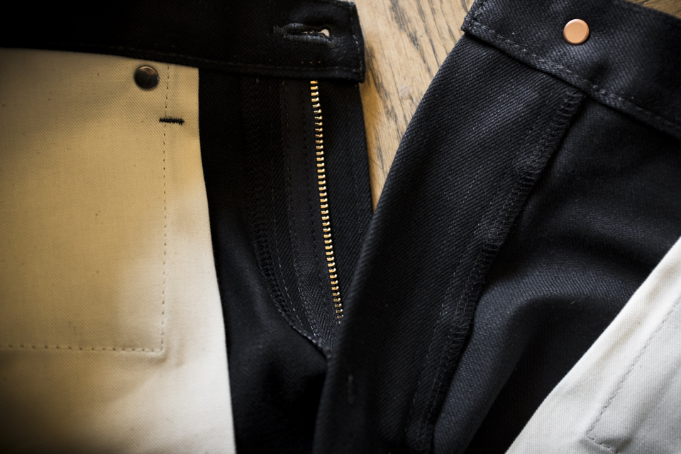 jeans selvedge noir renhsen interieur