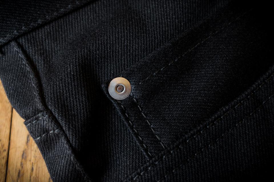 rivets metal jeans renhsen