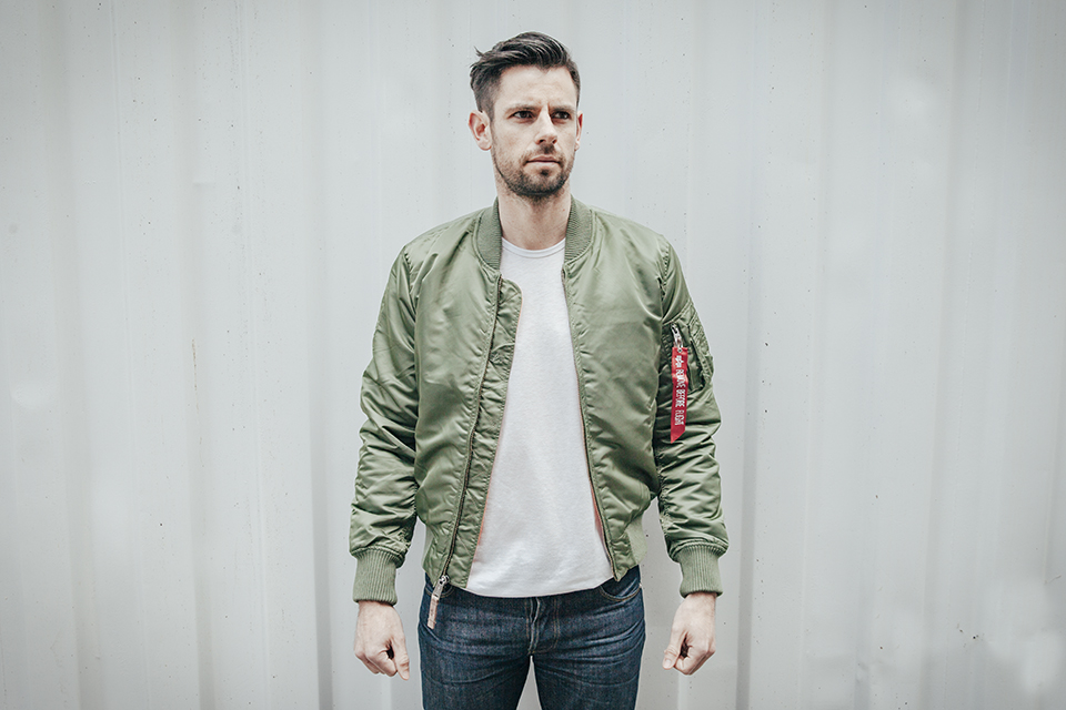 alpha industries bomber face