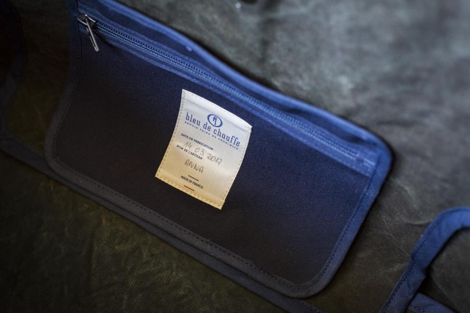 bleu de chauffe etiquette sac