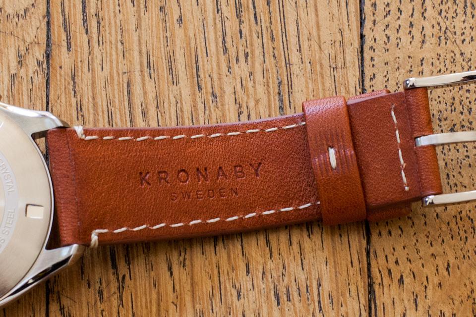 bracelet cuir veritable kronaby