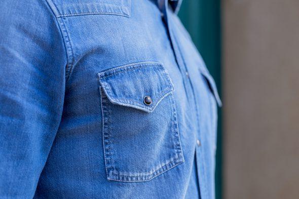 Cg Printemps Chemises Atelier Prive Western Brut Portee Poche