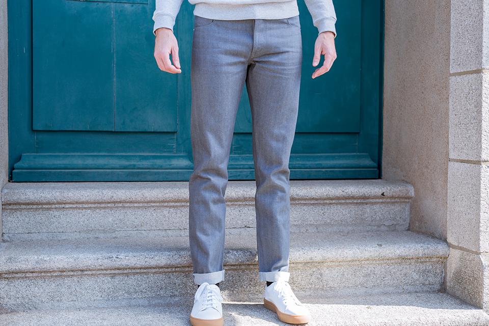 Cg Printemps Jeans Dnm Gris Porte Face