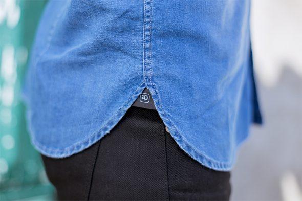 chemise denim brut casual bas