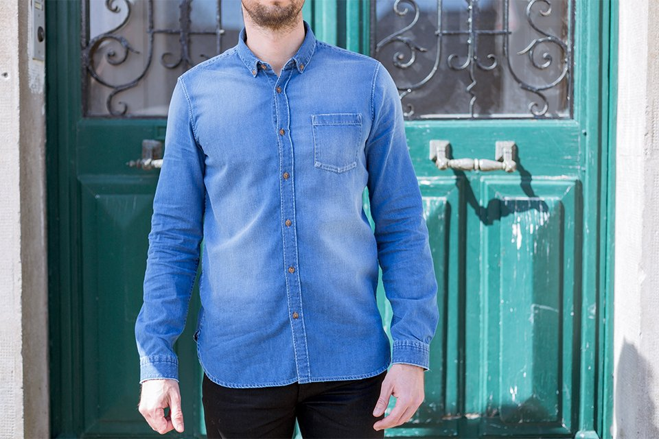 chemise denim brut casual face