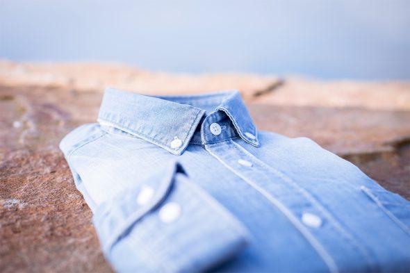chemise denim clair casual