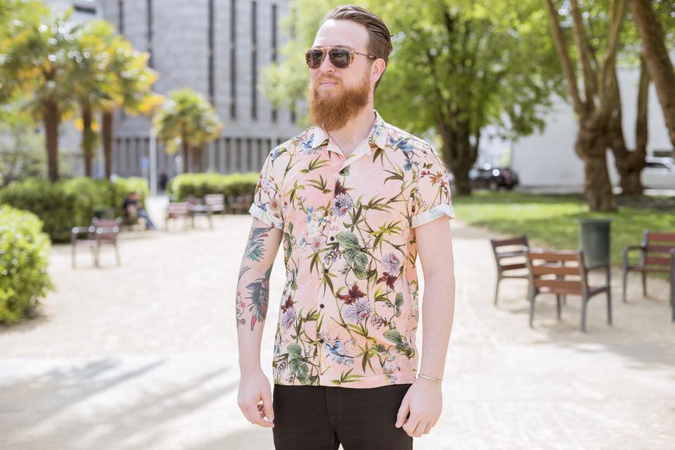 chemisette fleurs river island