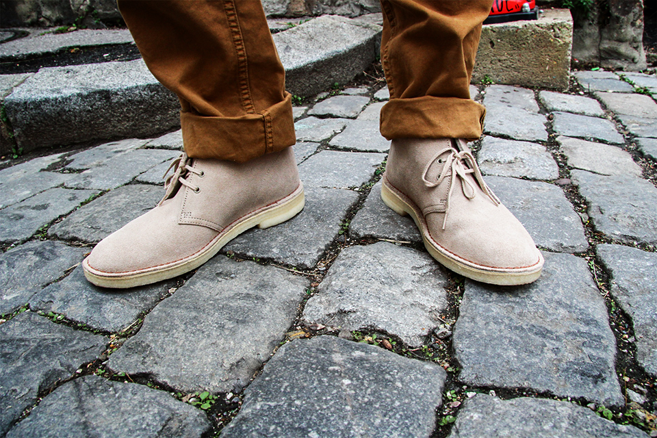 desert boots clarks beige homme