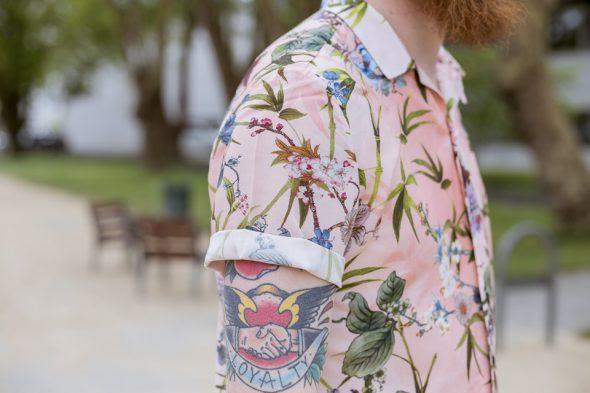 manche chemisette fleurs river island