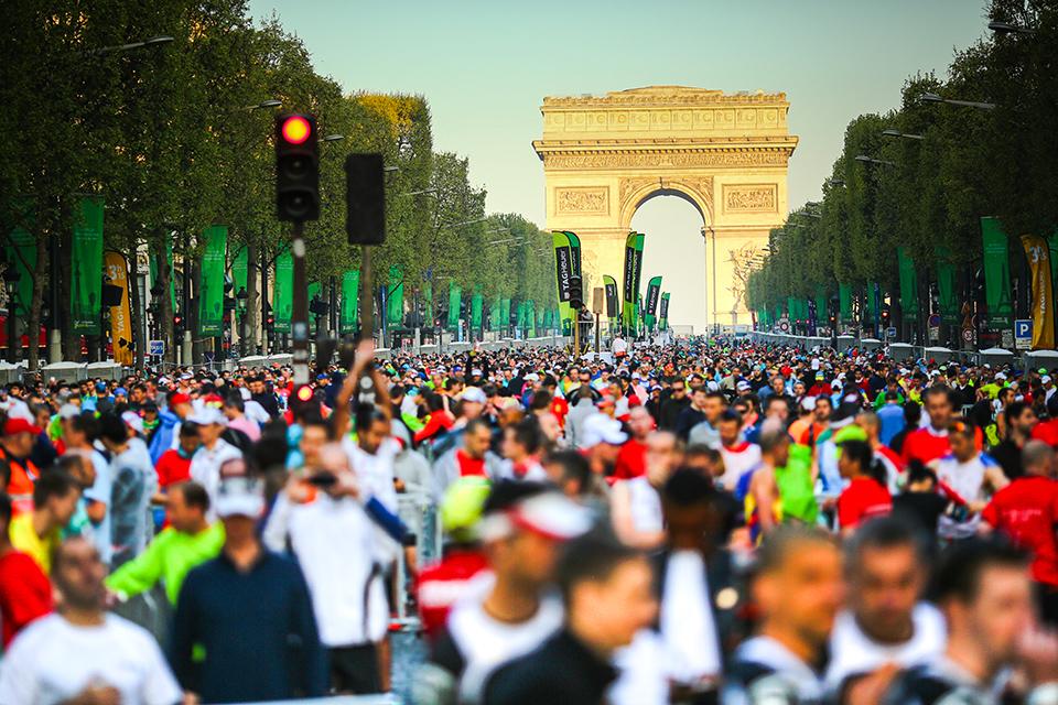 Marathon de Paris Arc de Triomphe