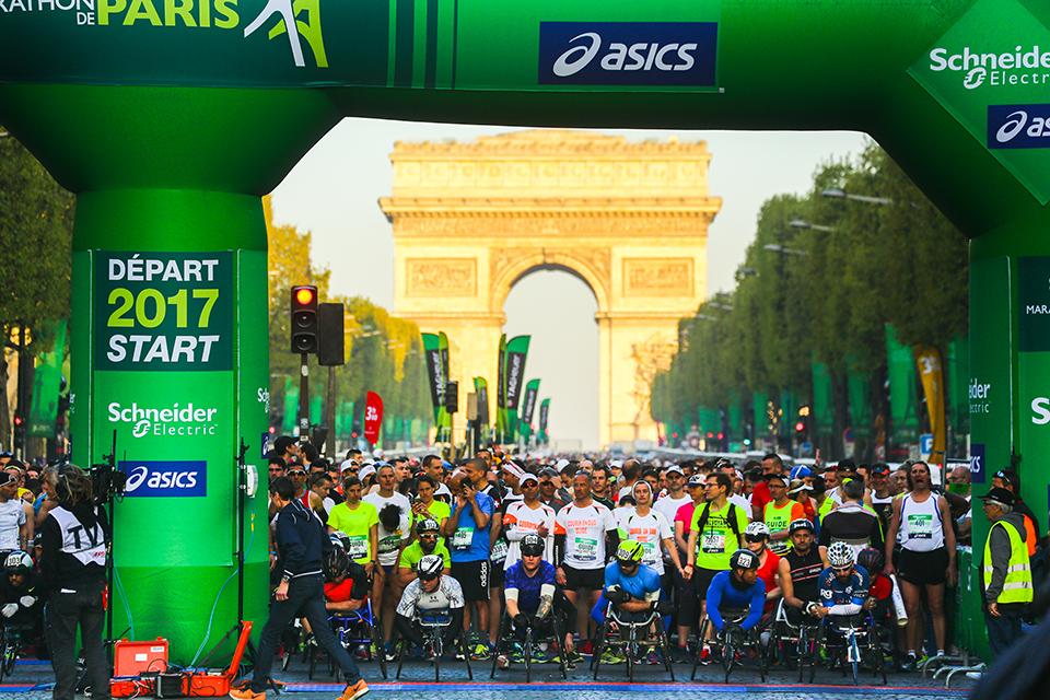 Marathon de Paris Départ