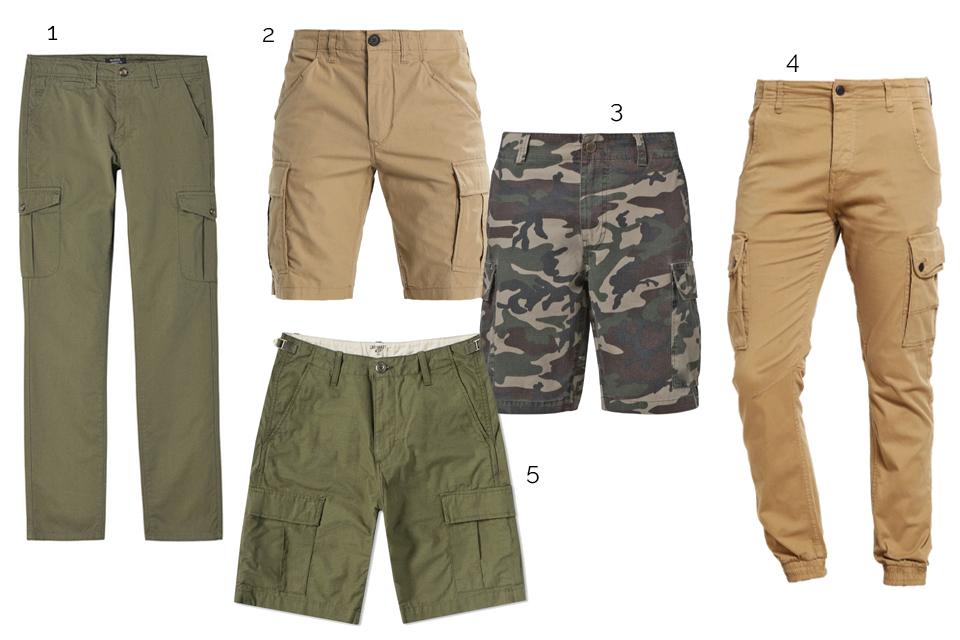 pantalon short cargo homme