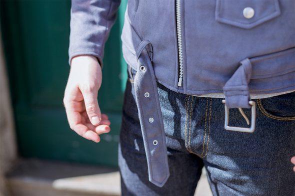 perfecto marty & gus suede gris ceinture