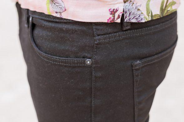river island jeans poche noir