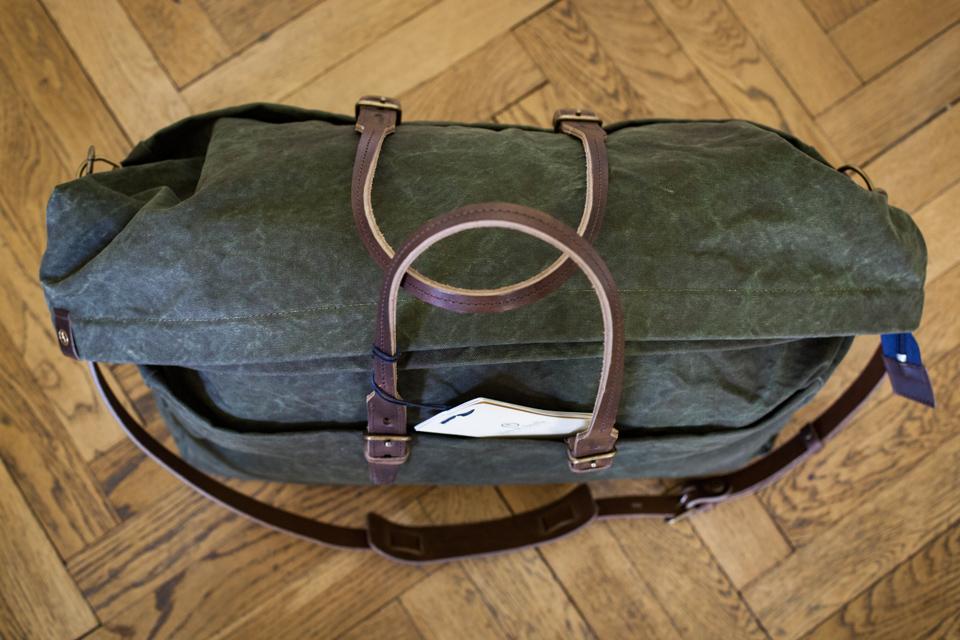 sac bleu de chauffe cabine coton