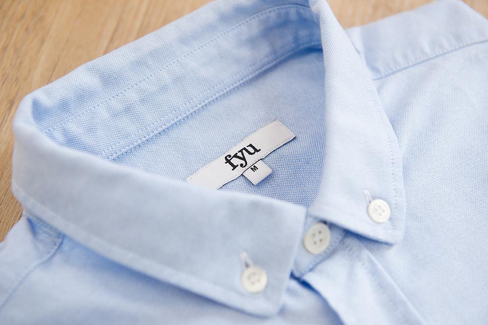 Chemise Fyu Bleu Ciel Etiquette