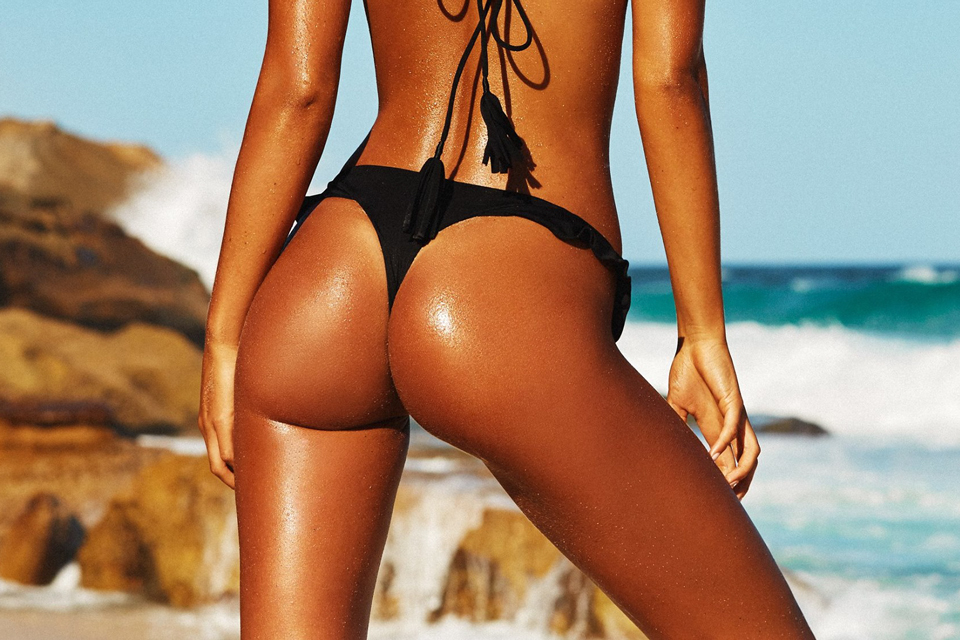 ass tanned swimsuit