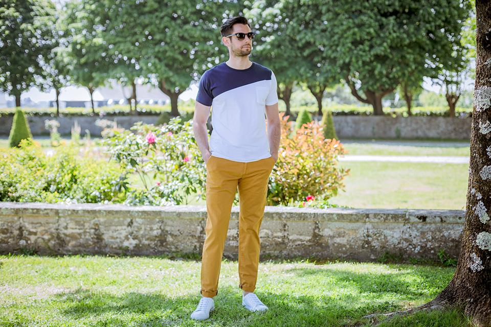 Bask In The Sun Dario Blanc Bleu Porte Face
