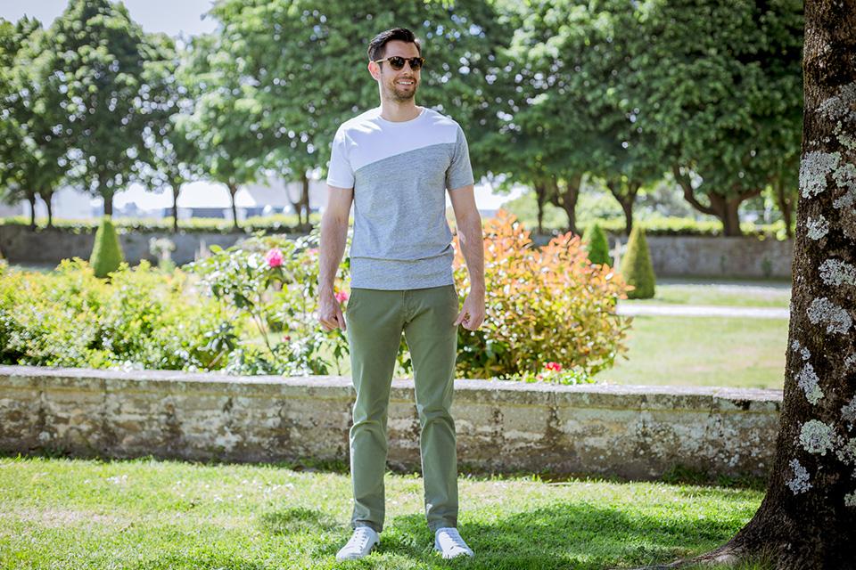 Bask In The Sun Dario Blanc Gris Porte Face