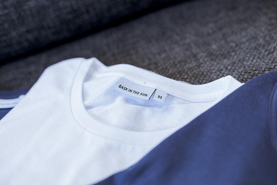 Bask In The Sun Tshirt Ensemble Blanc Bleu