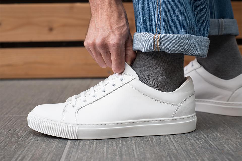 baskets agnes b blanche profil