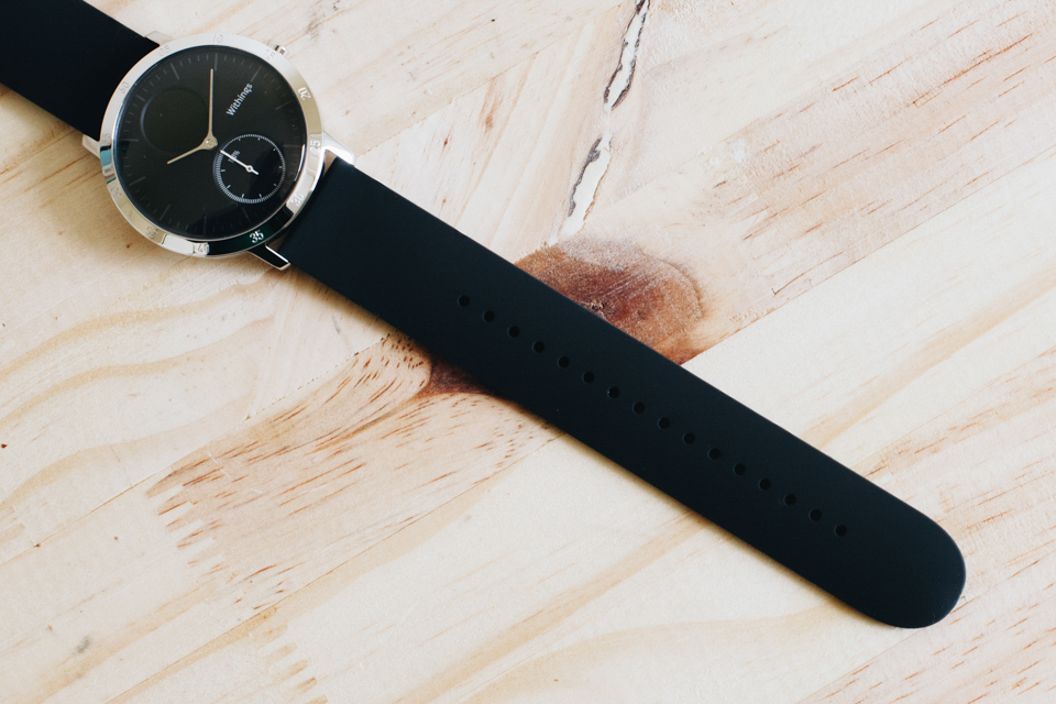 bracelet caoutchouc montre withings