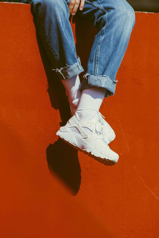 jeans april 77 chaussettes lsf nike huarache