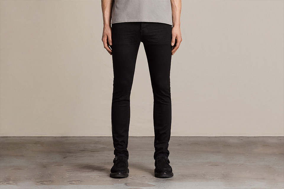 jeans skinny noir allsaints creepers